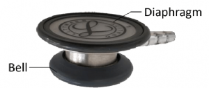 Stethoscope bell and diaphragm